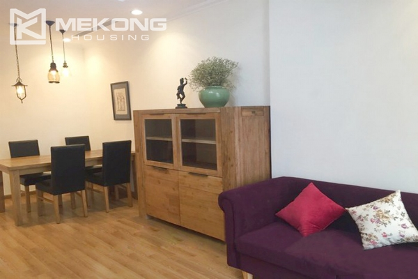 Cozy furnished apartment with 2 bedrooms on middle level in Vinhomes Nguyen Chi Thanh 3