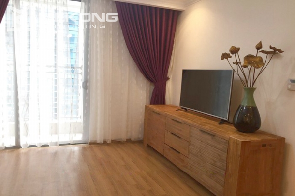Cozy furnished apartment with 2 bedrooms on middle level in Vinhomes Nguyen Chi Thanh 4