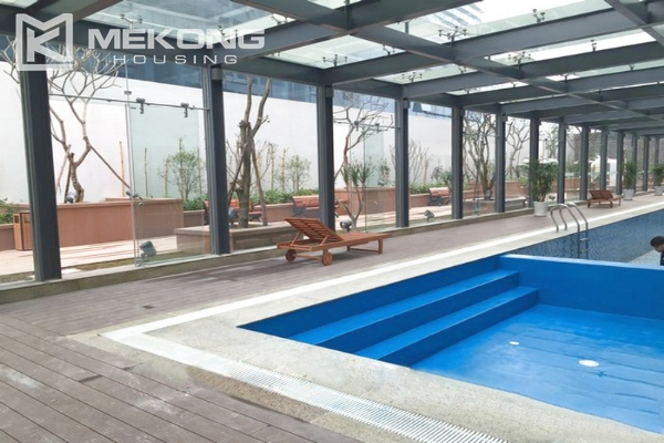 Cozy furnished apartment with 2 bedrooms on middle level in Vinhomes Nguyen Chi Thanh 6