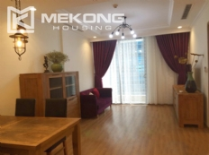 Cozy furnished apartment with 2 bedrooms on middle level in Vinhomes Nguyen Chi Thanh