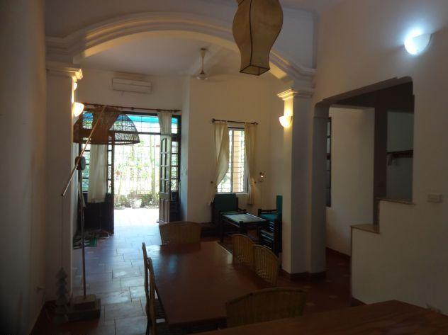 Four bedrooms house for rent in Nghi Tam village, Au Co street, Tay Ho district, Hanoi
