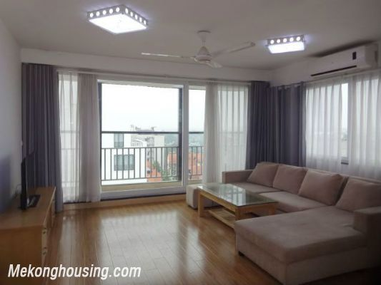 Full natural light apartment with 2 bedrooms for rent in To Ngoc Van street, Tay Ho, Hanoi 2