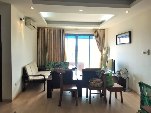 Fullly furnished apartment with 3 bedrooms for rent in Veam building, Lac Long Quan street, Tay Ho
