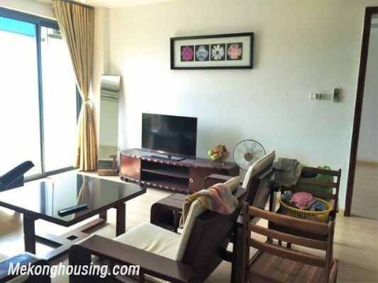 Fullly furnished apartment with 3 bedrooms for rent in Vuon Dao building, Lac Long Quan street, Tay Ho 1