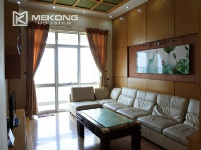 Fully furnished apartment with 3 bedrooms for rent at 713 Lac Long Quan street, Tay Ho