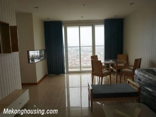 Fully furnished apartment with 3 bedrooms for rent in CT2B Tay Ho Residence, Tay Ho, Hanoi 2