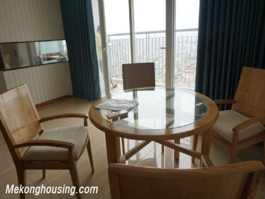 Fully furnished apartment with 3 bedrooms for rent in CT2B Tay Ho Residence, Tay Ho, Hanoi 4