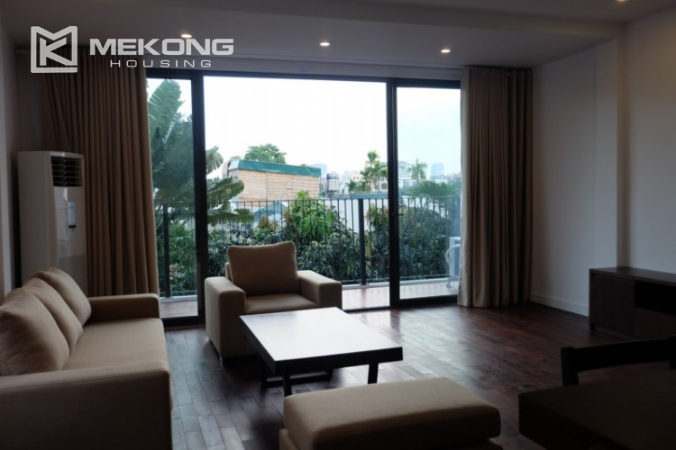 Fully furnished apartment with 3 bedrooms for rent in Xom Chua 1