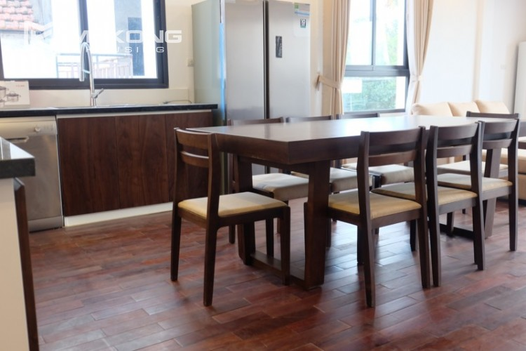 Fully furnished apartment with 3 bedrooms for rent in Xom Chua 13