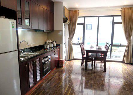 Fully furnished serviced apartment for rent in Tran Quoc Hoan, Cau Giay, Hanoi