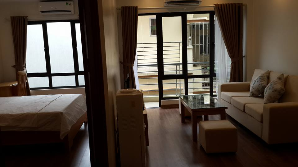 Fully furnished serviced apartment with one bedroom for rent in Hoang Quoc Viet, Cau Giay, Hanoi