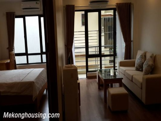 Fully furnished serviced apartment with one bedroom for rent in Hoang Quoc Viet, Cau Giay, Hanoi 1