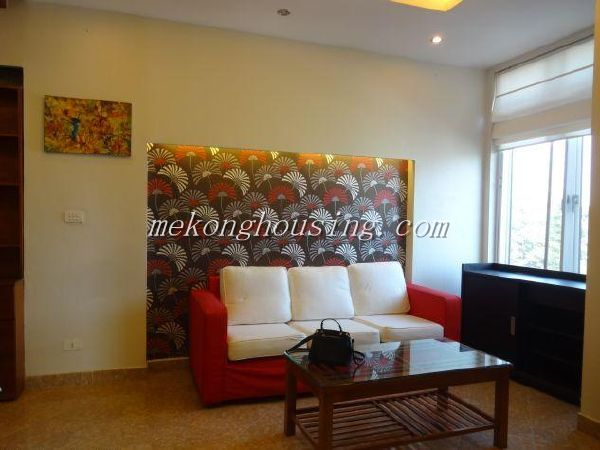 Fully furniture serviced apartment for lease in Au Co street, Tay Ho district, Hanoi.