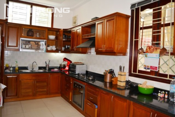 Furnsihed Villa with swimming pool, nice courtyard, and spacious living space in To Ngoc Van street 13