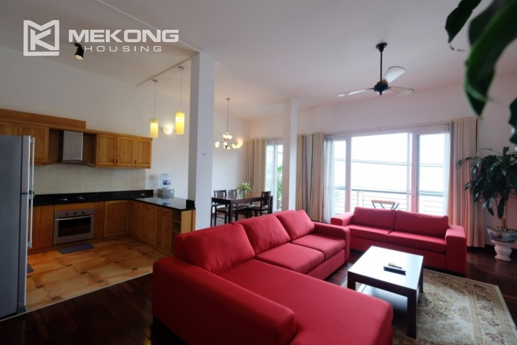 Lake bank serviced apartment for rent in Quang Khanh 2
