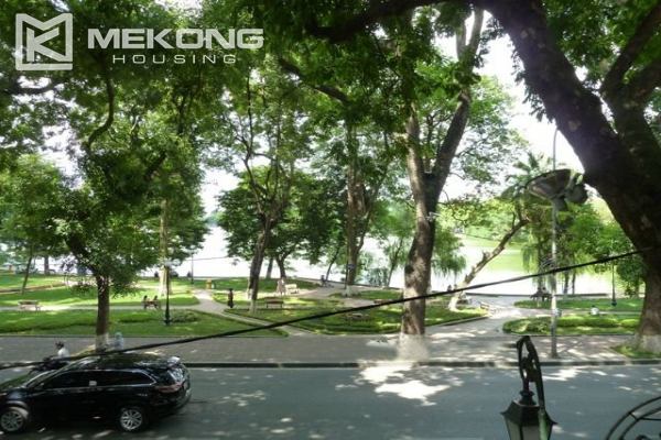 Lake front apartment with 2 bedrooms and 3 floors for rent at the center location of Hoan Kiem district 2