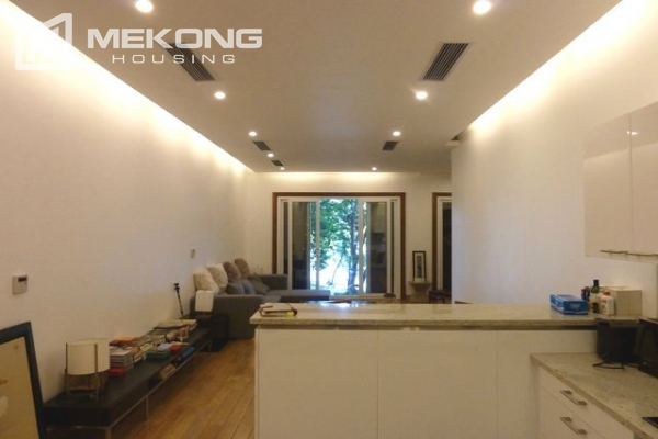 Lake front apartment with 2 bedrooms and 3 floors for rent at the center location of Hoan Kiem district 3