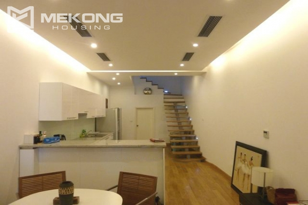 Lake front apartment with 2 bedrooms and 3 floors for rent at the center location of Hoan Kiem district 4