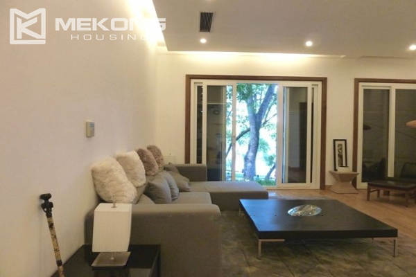 Lake front apartment with 2 bedrooms and 3 floors for rent at the center location of Hoan Kiem district 6