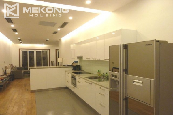 Lake front apartment with 2 bedrooms and 3 floors for rent at the center location of Hoan Kiem district 7