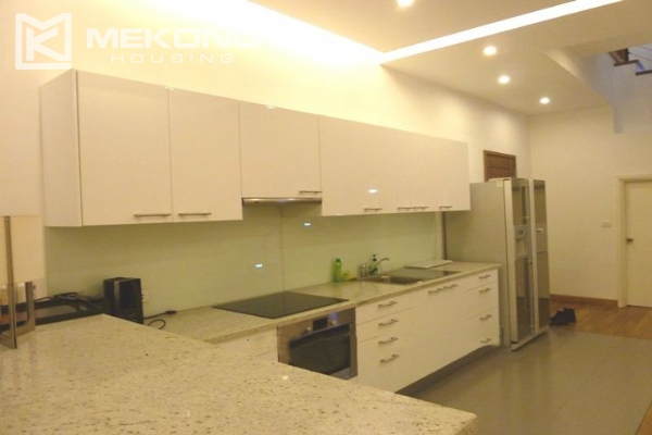 Lake front apartment with 2 bedrooms and 3 floors for rent at the center location of Hoan Kiem district 8