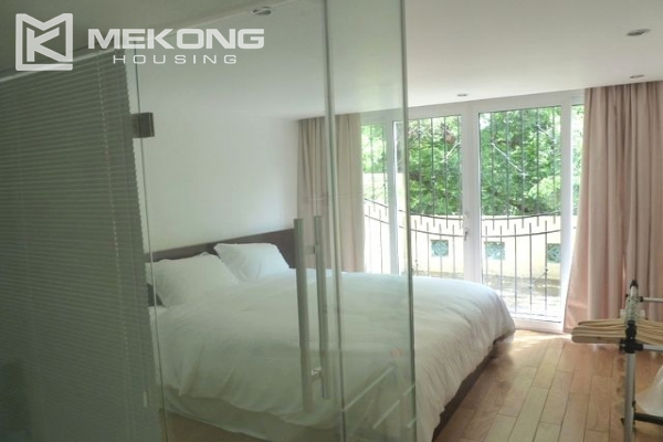 Lake front apartment with 2 bedrooms and 3 floors for rent at the center location of Hoan Kiem district 12