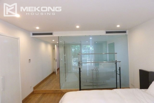 Lake front apartment with 2 bedrooms and 3 floors for rent at the center location of Hoan Kiem district 13