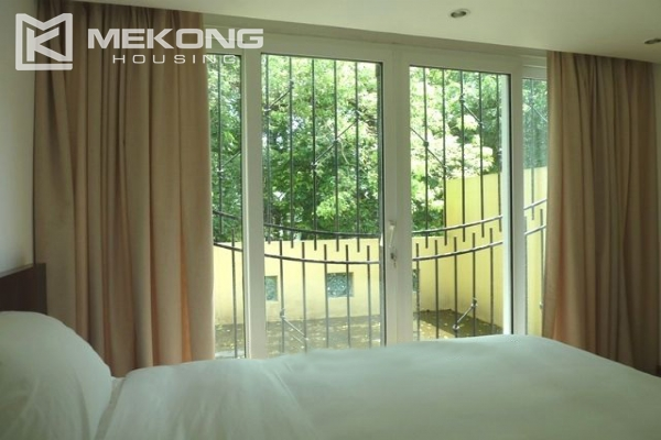 Lake front apartment with 2 bedrooms and 3 floors for rent at the center location of Hoan Kiem district 14