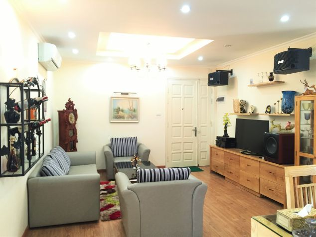 Lake view apartment with 3 bedrooms on high floor in CT13B tower, Vo Chi Cong street, Tay Ho district