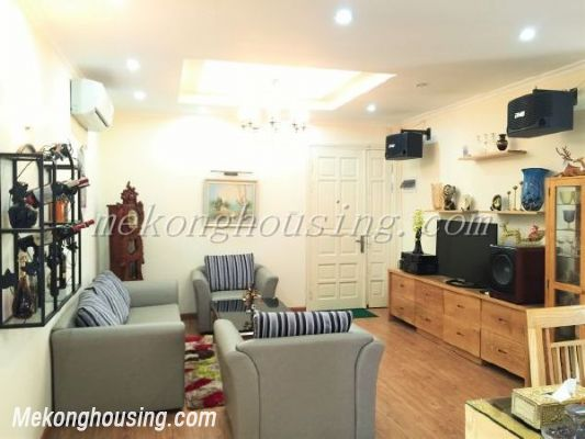 Lake view apartment with 3 bedrooms on high floor in CT13B tower, Vo Chi Cong street, Tay Ho district 1