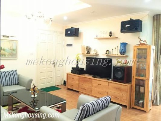 Lake view apartment with 3 bedrooms on high floor in CT13B tower, Vo Chi Cong street, Tay Ho district 3