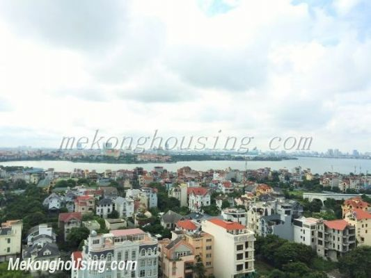 Lake view apartment with 3 bedrooms on high floor in CT13B tower, Vo Chi Cong street, Tay Ho district 12