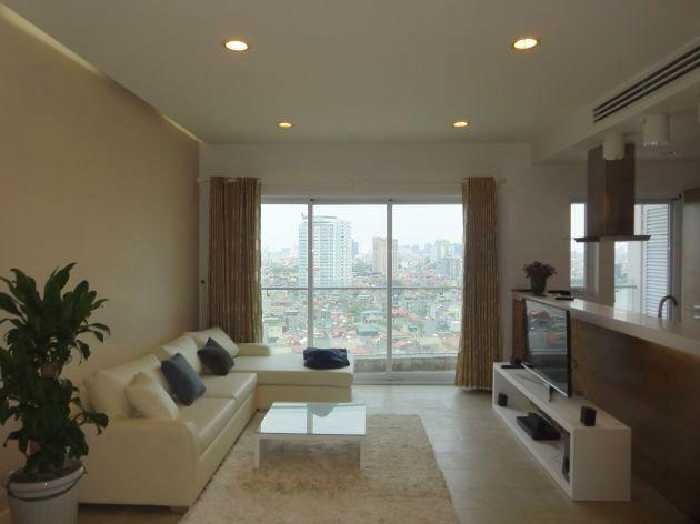 Lakeview apartment with two bedrooms for rent in Golden Westlake, Tay Ho, Hanoi