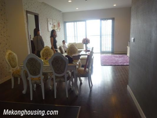 Lancaster 3 bedroom apartment for rent in Ba Dinh district, lake view 2
