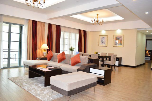A luxurious apartment with 4 bedrooms for rent in Sedona Suites Hanoi
