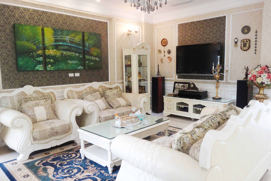 Luxury and spacious villa with 5 bedroom for rent in T area, Ciputra, Tay Ho, Hanoi 1