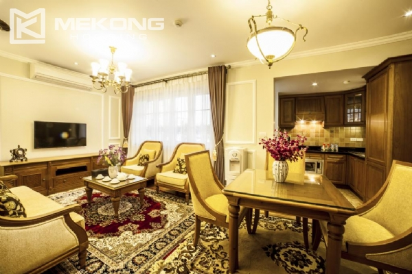 Luxury apartment with 1 bedroom for rent in Hai Ba Trung district, near Vincom Center Ba Trieu 1