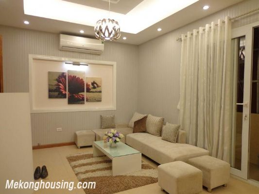 Luxury serviced apartment with 2 bedrooms for rent in Tran Phu, Ba Dinh, Hanoi 1