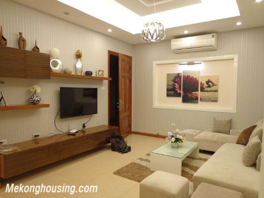 Luxury serviced apartment with 2 bedrooms for rent in Tran Phu, Ba Dinh, Hanoi 2