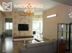 Modern 123 m2 apartment with 3 bedrooms for rent in E5 tower, Ciputra Hanoi