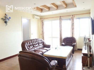 Modern 153 m2 apartment with 4 bedrooms for rent in E5 tower, Ciputra Hanoi
