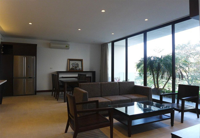 Modern apartment with 2 bedroom and big balcony for rent in Yen Phu village, Tay Ho