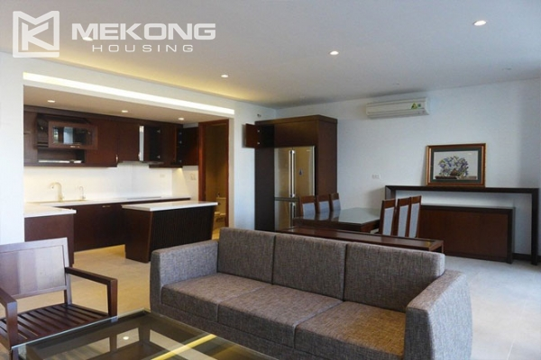 Modern apartment with 2 bedroom and big balcony for rent in Yen Phu village, Tay Ho 1