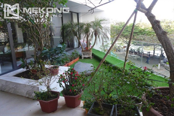 Modern apartment with 2 bedroom and big balcony for rent in Yen Phu village, Tay Ho 10