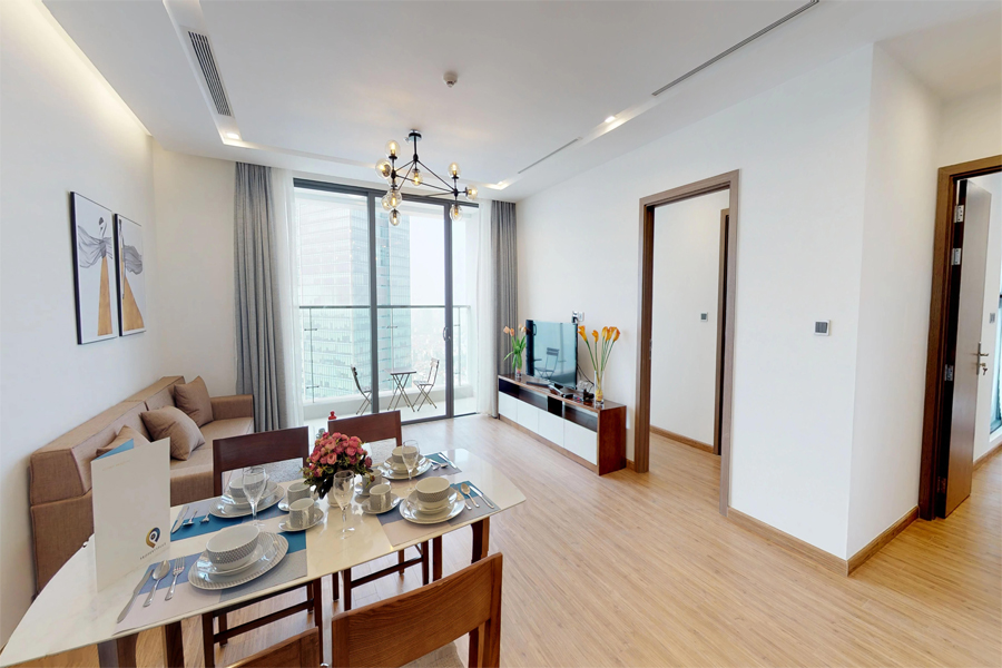 Modern design apartment with 2 bedroom on high floor in Vinhomes Metropolis, Lieu Giai street 2