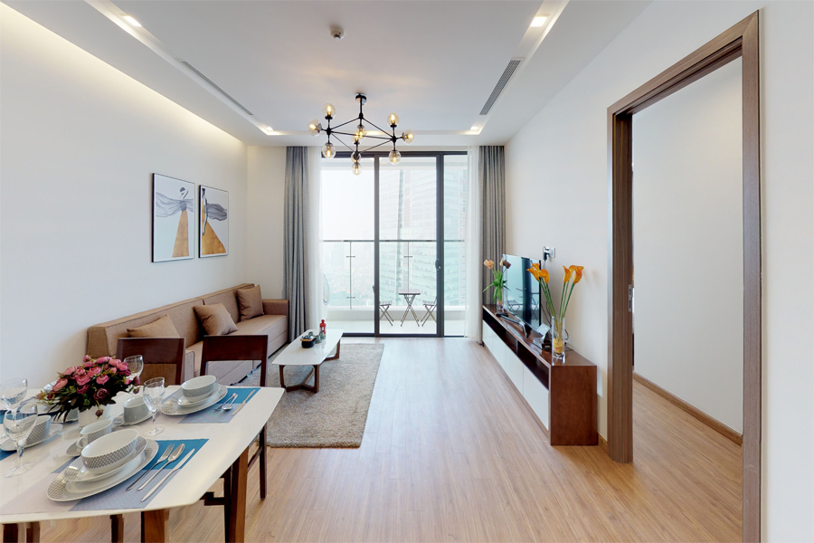 Modern design apartment with 2 bedroom on high floor in Vinhomes Metropolis, Lieu Giai street 3