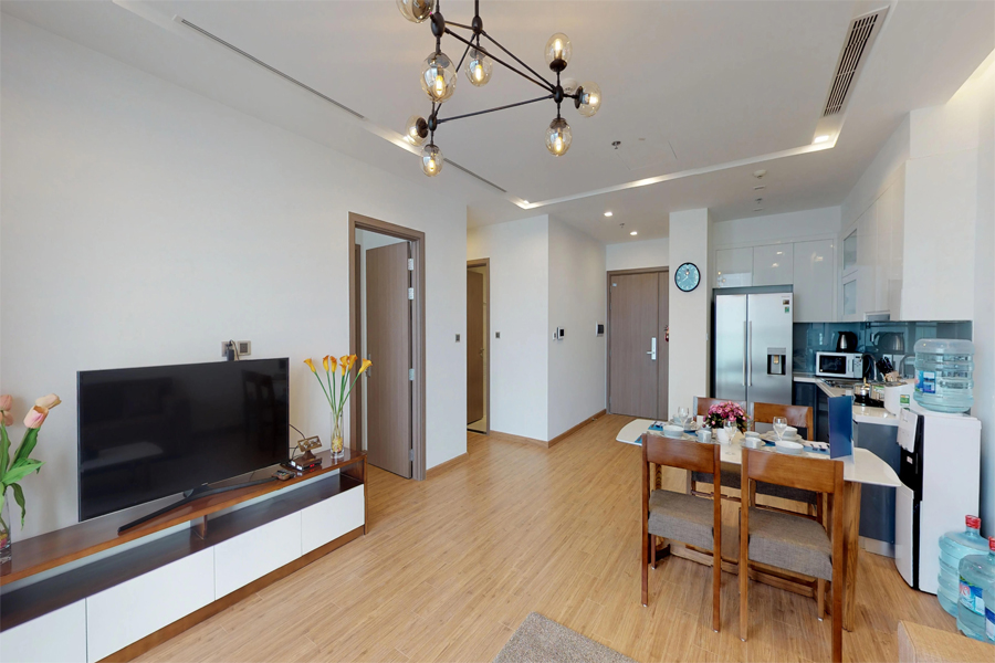 Modern design apartment with 2 bedroom on high floor in Vinhomes Metropolis, Lieu Giai street 5