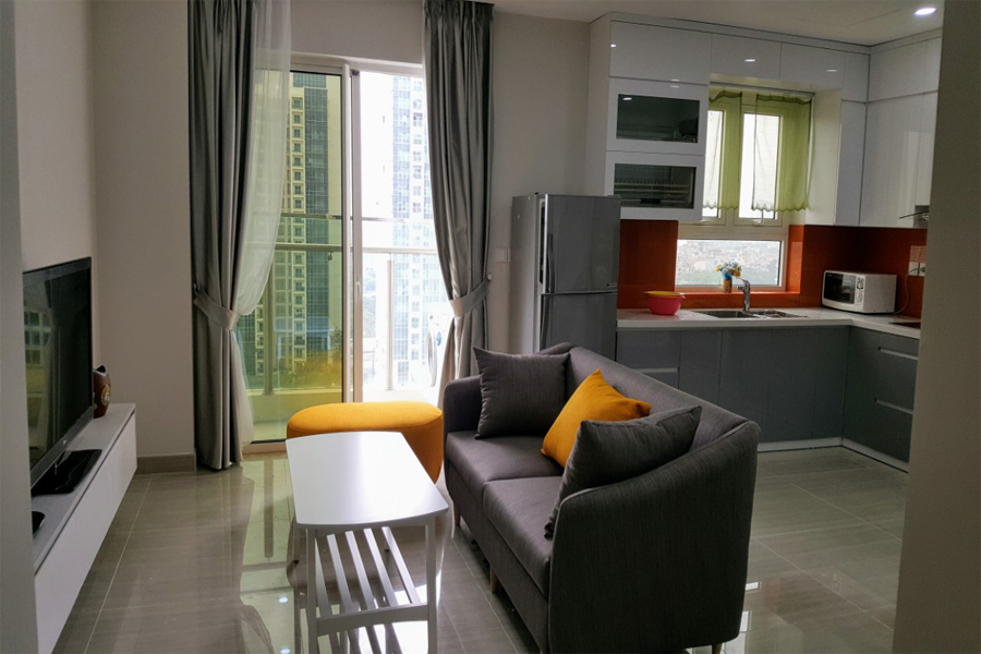 Modern design apartment with 2 bedrooms on high floor in The Link L3 Ciputra Hanoi