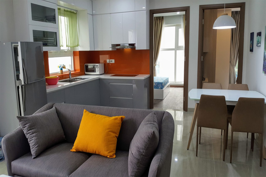 Modern design apartment with 2 bedrooms on high floor in The Link L3 Ciputra Hanoi 6