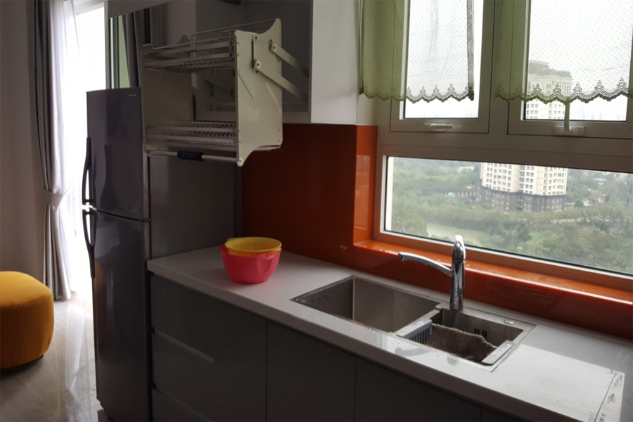 Modern design apartment with 2 bedrooms on high floor in The Link L3 Ciputra Hanoi 9